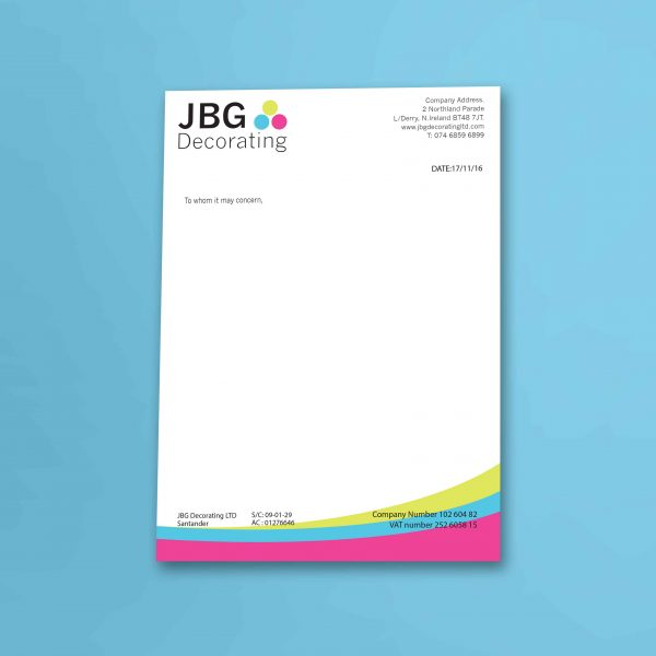 Beaufiful letterheads images gallery eco recycled letterheads and letterheads web design graphic design logo design derry thecheapjerseys Gallery